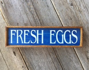 Fresh Eggs Sign, Rustic Wood Sign, Farmhouse Decor, Farm Signs, Chicken Decor, Kitchen Sign, Kitchen Decor, Home and Living, Country Decor