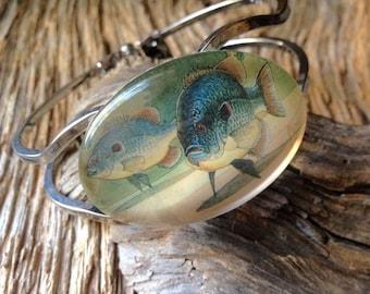 Redear sunfish nwf stamp bracelet: fisherwoman bream bracelet shellcracker bracelet