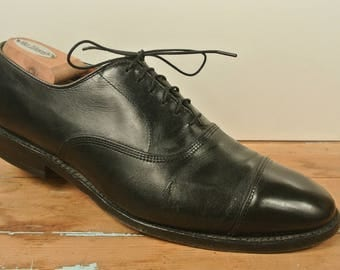 Allen Edmonds Park Avenue  Black Cap Toe Lace Up Balmoral Size: 9.5C