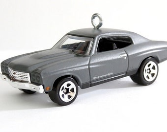 1970 Chevy Chevelle SS Car Hot Wheels Ornament, Fast and Furious, Choose your Ornament Hook Style BettyGiftStore