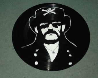 Lemmy, Motorhead, hand painted 12ins disc, ready to hang
