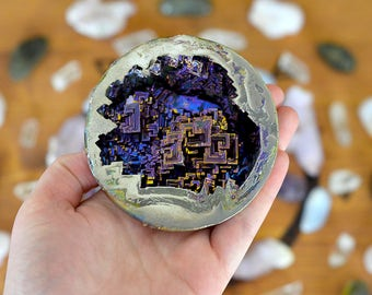 SALE - XL Bismuth Geode - Made in the USA - The Stone of Transformation and Change