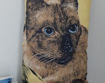 Vintage Siamese Cat Tea Towel Cushion