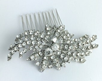wedding hair comb, crystal hair comb, Vintage Inspired bridal hair comb, Swarovski hair comb,bridal hair accessories,wedding hair, HC041