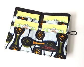 Ankara Tea wallet, tea bag holder,  tea lover gift her,tea bag storage, tea party favors, tea bag case, tea lovers gift, tea carrier