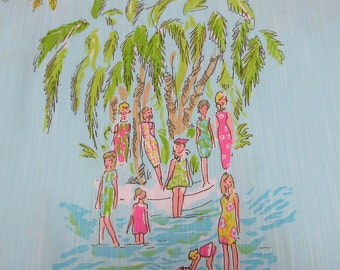 """18"""" x 20"""" Lilly Pulitzer Dobby Cotton Fabric In The Slim Hard to Find"""
