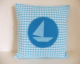 Cushion cover with boat, cushion cover, boat,