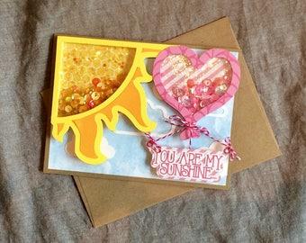 You Are MY Sunshine Shaker card