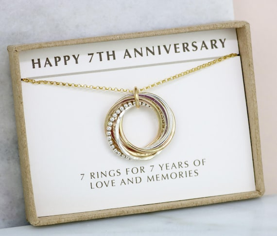 7th Wedding Anniversary Gift Ideas For Her: 7th Anniversary Gift For Her 7 Year Wedding Anniversary Gift