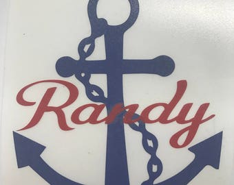Anchor Personalized Decal