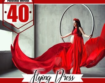 40 Flying fabric dress Photo Overlays, Photoshop Overlay, flowing cloth, flying silk satin, wedding, dress Overlay Extensions png file