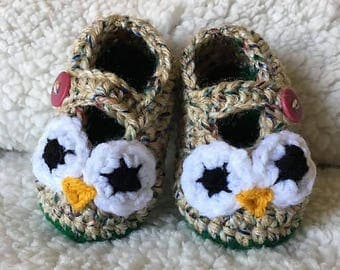 Baby Crocheted Owl Shoes