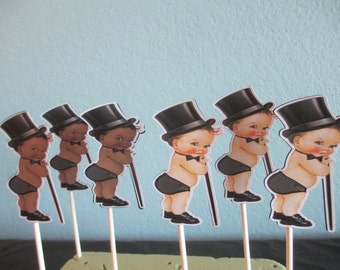 Top Hat Cupcake Toppers(12)Top Hat Baby Shower,Top Hat Birthday,Top Hat Baby Shower,Top Hat Baby Decorations,Top Hat Party,Top Hat Bow Tie