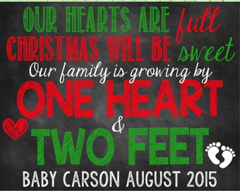 Christmas Pregnancy Announcement Christmas Pregnancy Christmas Pregnancy Reveal Growing Family Christmas Xmas