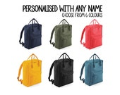 Personalised Urban Daypack Backpack with ANY NAME Kids Children Teenagers School Uni Student rucksack