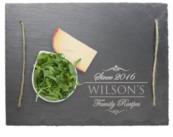 Personalized Slate Cheese Board Serving Tray,  Serving Tray with Handles, Custom Serving Tray, Personalized Slate, Engraved Serving Tray