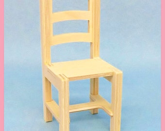 Wooden Country wooden CHAIR for BJD dolls Barbie Fashion Royalty Blythe Pullip Monster High dolls diorama dollhouse furniture 1:6