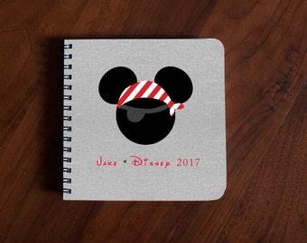Disney Autograph Book Mickey Mouse Pirate Boy - gray linen
