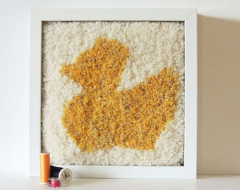 Yellow Duck Wool Wall Art