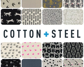 BLACK AND WHITE 2017 by Cotton and Steel - Complete Half Yard Bundle Collection