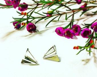Paper Plane Stud Earrings