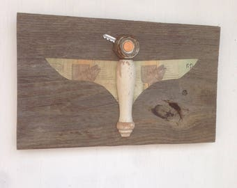 Falcon- Found Object Bird Art