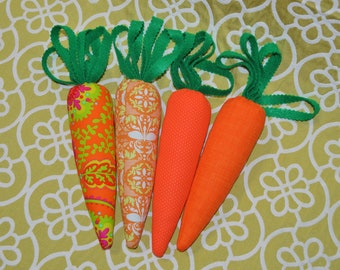Set of 4 Fabric Carrot Toy Stuffed Carrot Education Toy Soft Dog Toy Kids Gardening Toy Shape Sorting Toy Carrot Plush Vegetable Play food