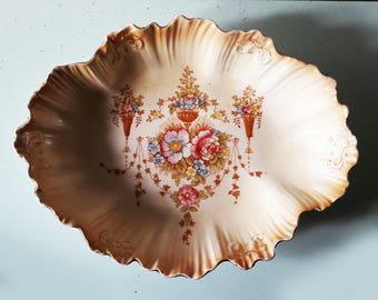 Beautiful Antique Victorian English Crown Devon dish