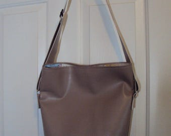 Faux Leather Slouch Purse
