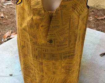 Pop Art Yellow Pages Paper Dress 1960s
