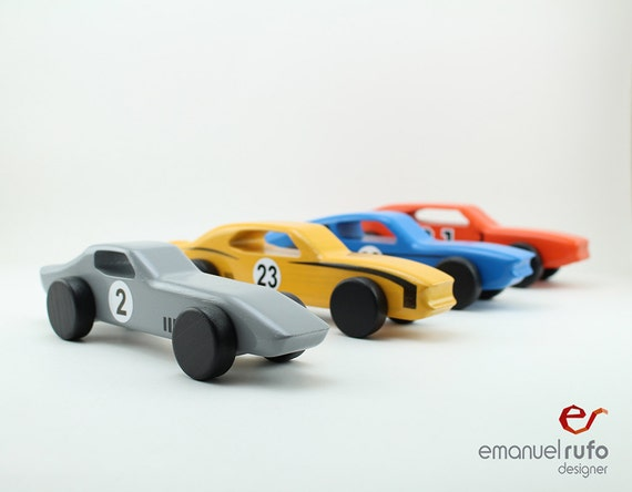 Wooden Toys For Boys : Set of wooden toy cars toys for boys american
