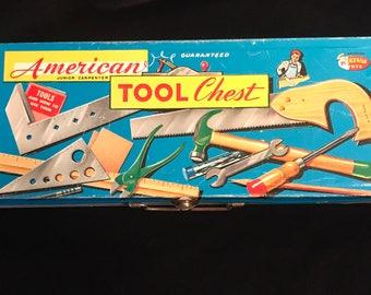 Vintage American Junior Carpenter Tool Chest, Chicago IL