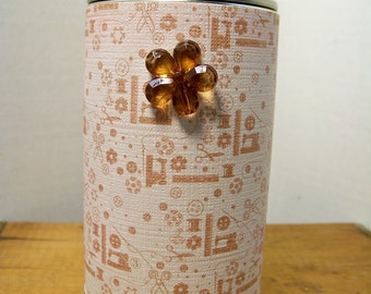 Storage Tin made from Recycled Items Sewing Theme
