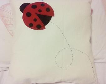 Cute lady bird, lady bug cushion