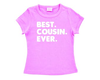 Best. Cousin. Ever. Pregnancy Announcement, Cousin Gift, Reveal Shirt, Big Cousin T-Shirt, Pink Short Sleeve Tee For Girls, Australian Owned