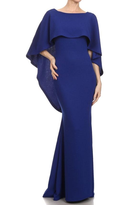 Navy blue maxi maternity dress