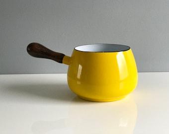 Yellow Enamel Dansk Style Pot