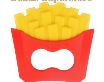 Large Silicone French Fry Teether - Food Grade Teether - Teething Necklace Silicone Pendant