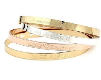 Trio bracelet personalized ring