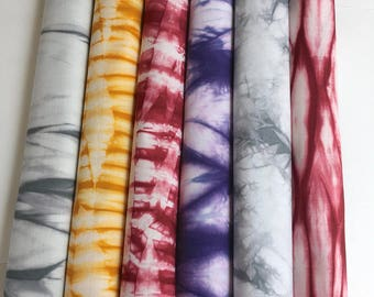 Hand Dyed Shibori Fabric Bundle