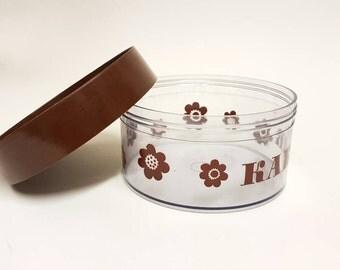 Erik Kold Denmark nice cookie jar. Canister  - scandinavian design 70s brown anemon