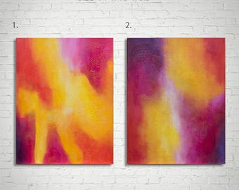 """Abstract Painting, Original Abstract Acrylic Painting, Colourful Art, Wall Art on Canvas, Acrylic Painting on Canvas, Wall Hanging 14""""x18"""""""