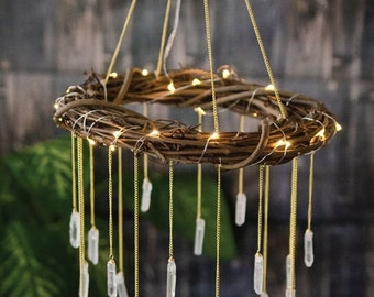Outdoor Chandelier - Garden Wedding Lights - Romantic Garden Lights - Patio Chandelier Lighting - Outdoor Wedding Lighting - Bohemian Garden