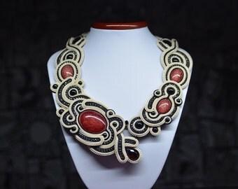 Santa Monica - soutache necklace