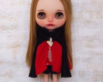 Blythe dress/Netsuke dress04/cotton/wool/kimono fabric/by T-kuma66.