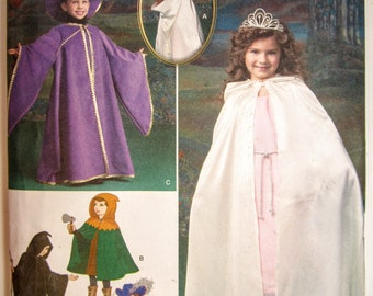 Simplicity 1583 Child's Cape Tabard & Hats Sewing Pattern Sizes 3 - 8 Uncut