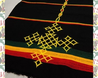Ethiopian Traditional Hand Embroidered Scarf(Shawl)