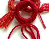 CAT toys, red cat toys, crazy cat lady gift, cat lover gift, cats that fetch, play with your cat, kitten toys, ring toys, Christmas colors