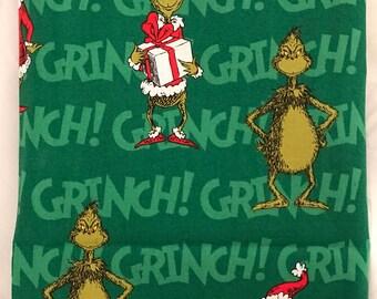 Christmas fabric destash, Grinch fabric, Grinch Christmas fabric