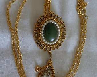 14-inch Vintage  2 in One Necklace/Pendant (#0524) from the late 50's or 60's